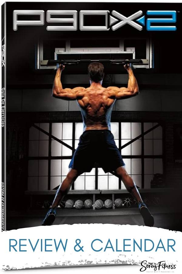 P90X2 Workout Cover with Review & Calendars