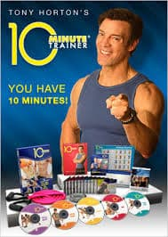 Tony Horton on the cover of 10 minute trainer
