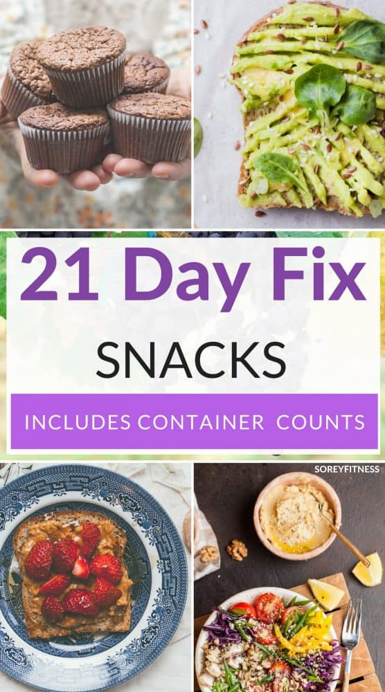 21 day fix snacks with container counts