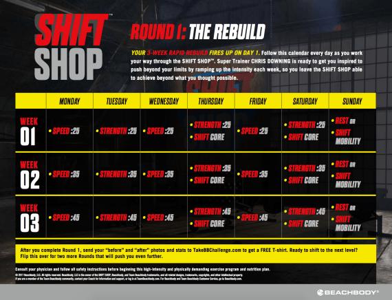 Shift Shop Calendar