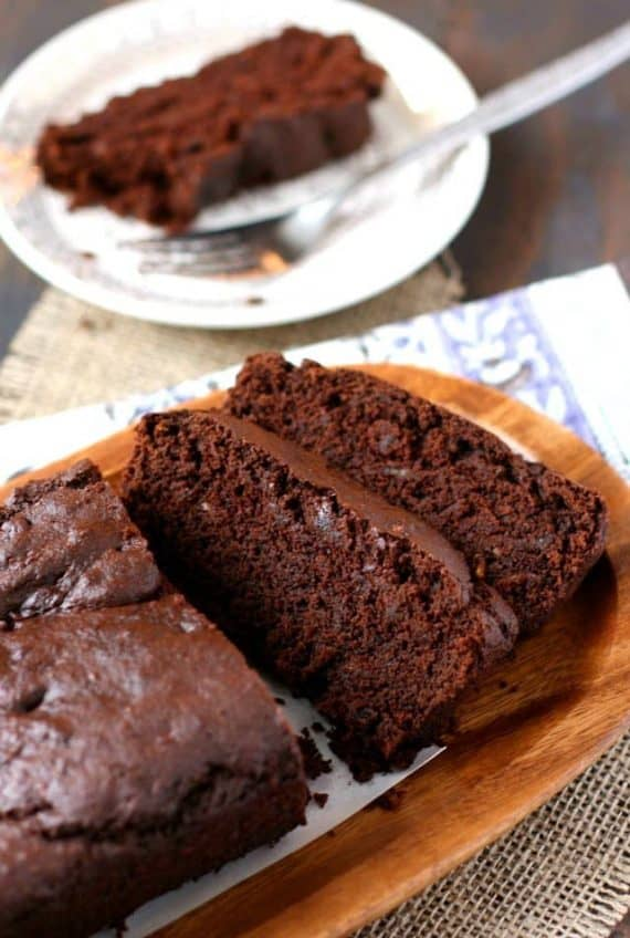 gluten-free sugar free chocolate banana bread