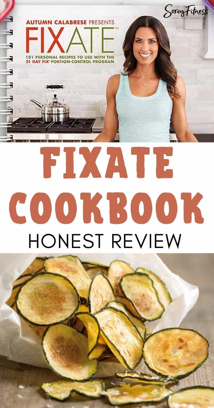 FIXATE Cookbook Review - Collage with Autumn Calabrese and Zucchini Chips