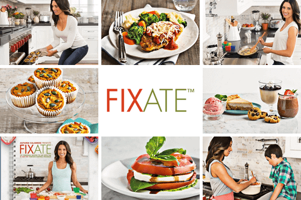 Fixate Collage of recipes and Autumn Calabrese photos