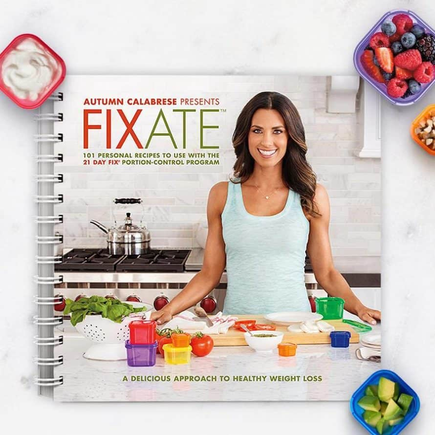 fixate cookbook with containers around it