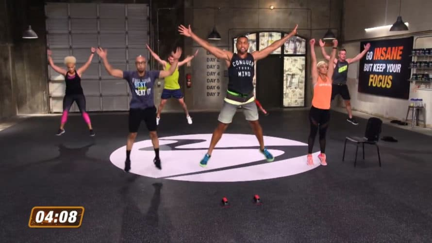 Shaun T and Cast Mid Workout