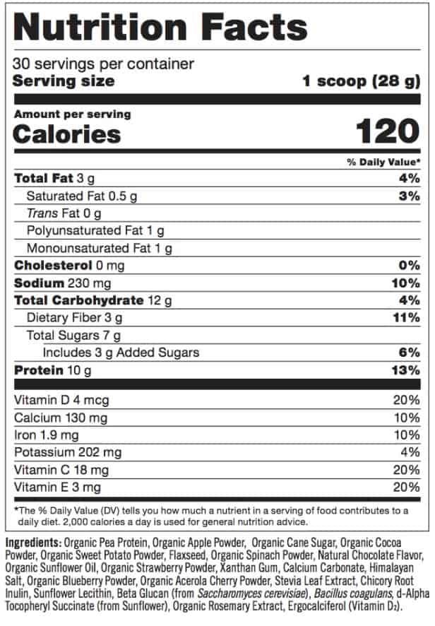 Strawberry Banana Daily Sunshine Ingredients