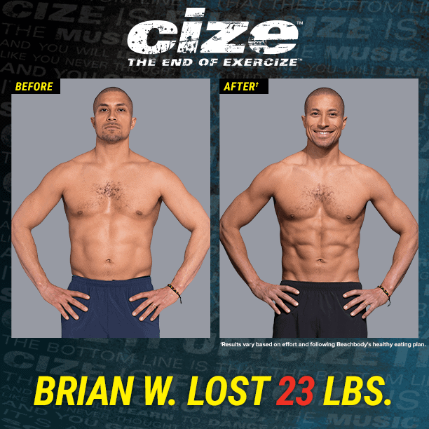 cize before and after of a man named brian