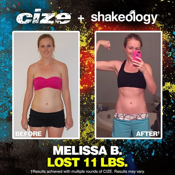 Melissa B's Cize Results