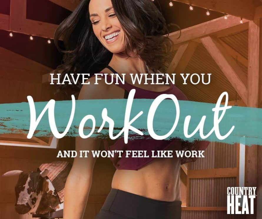 Autumn Calabrese with the words Have fun when you workout