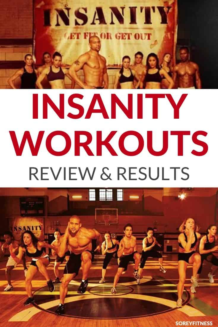 Workout Cast with the words Insanity Workouts Review and Results