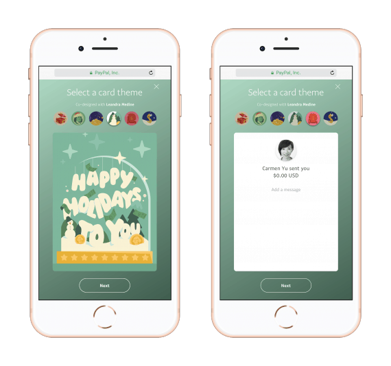 PAYPL2085_HappyHoliday - mobile front and back