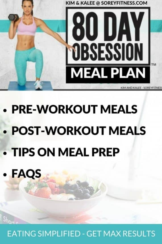 The 80 Day Obsession Recipes and Timed Nutrition can seem overwhelming, but we've made it simple! Get ready to make your meal plan using our simple pre-and post workout meals to help you lose weight and tone up in less than 3 months.