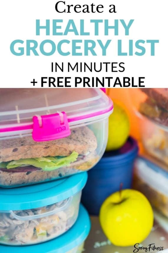Create a Healthy Shopping List in Minutes