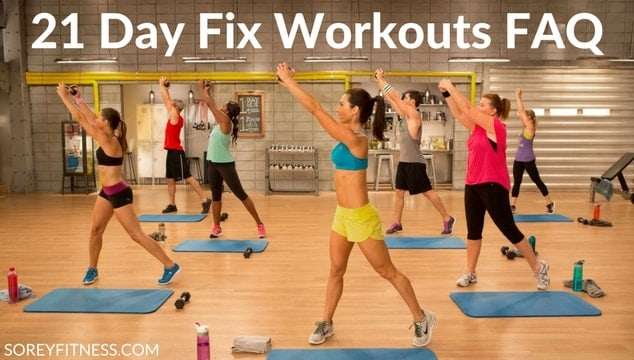 21 Day Fix Workouts Schedule - Working Out at Home