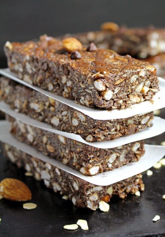 Chocolate Almond Granola Bars