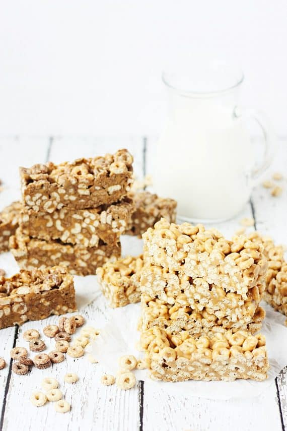 Easy No Bake Cereal Bars with Cheerios