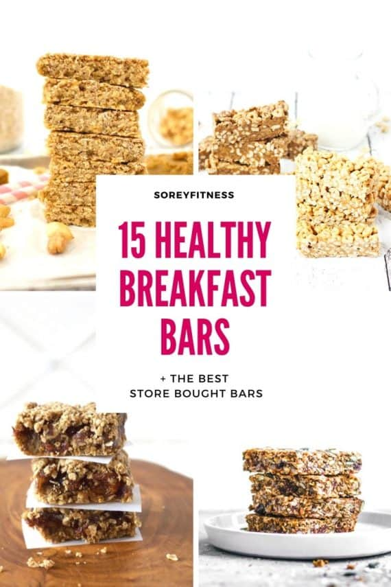 Pinterest Pin Healthy Breakfast Bars - The Best Recipes and Store-Bought Bars