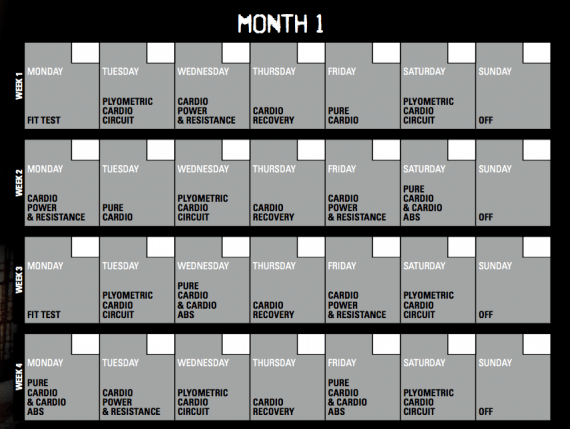 Insanity Calendar – Insanity Workout Schedule