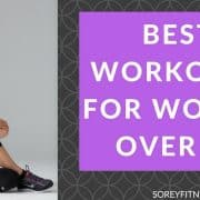 Kim on the picture that says best workouts for women over 40