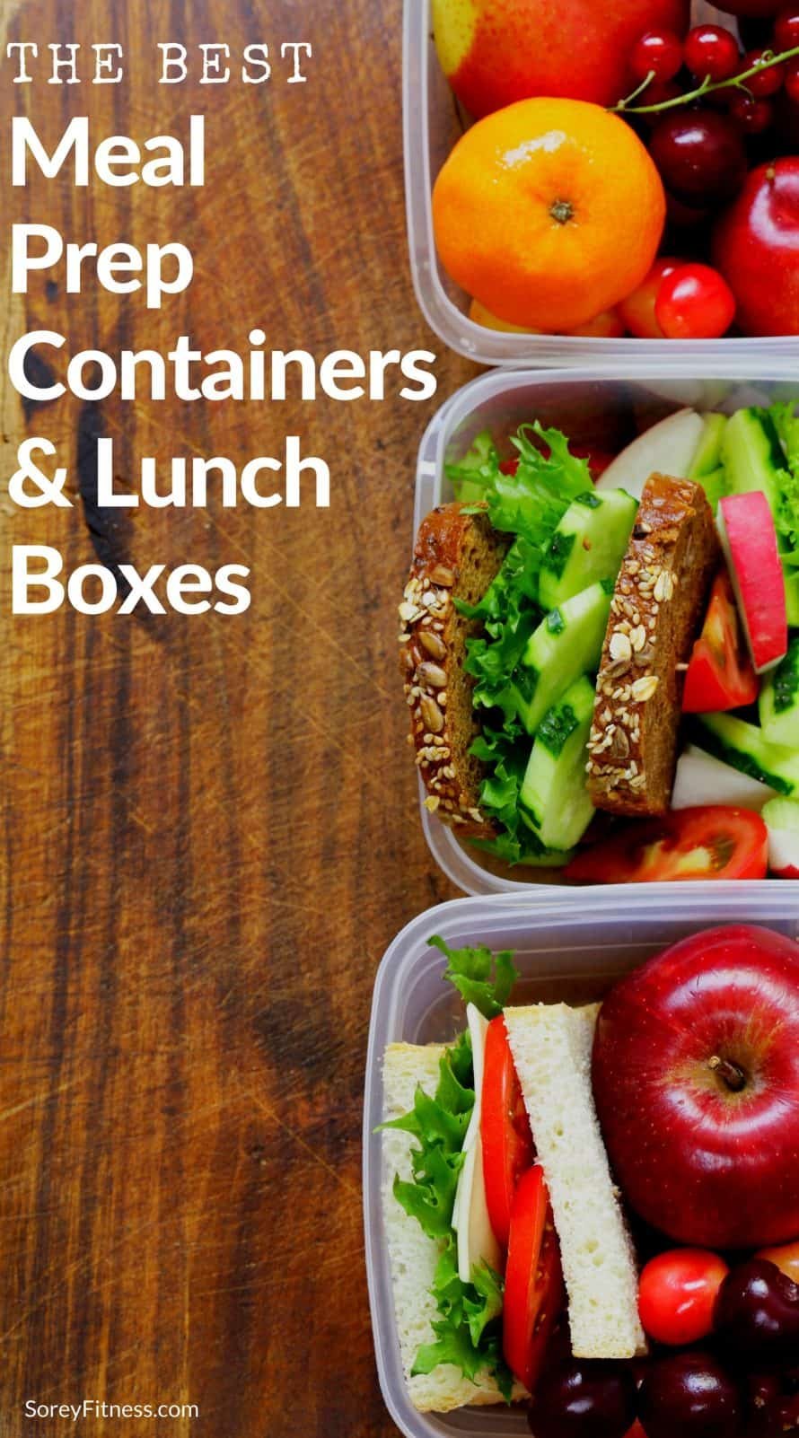 best meal prep containers and lunchboxes with food in them