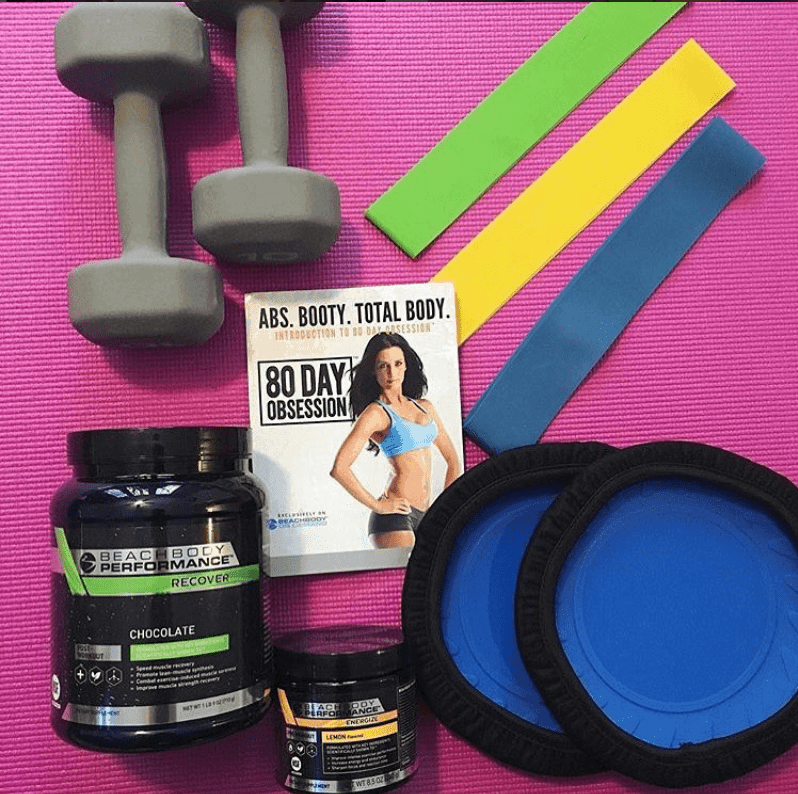 workout equipment for 80 day obsession