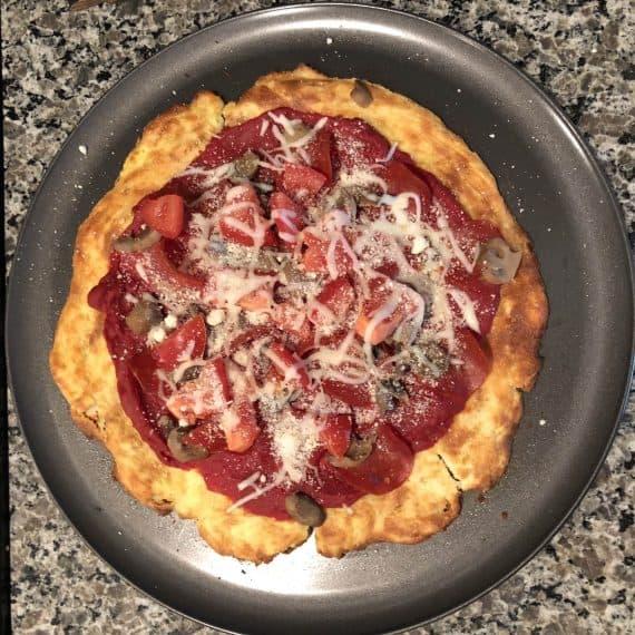 Healthy Keto Pizza Crust Recipe Done