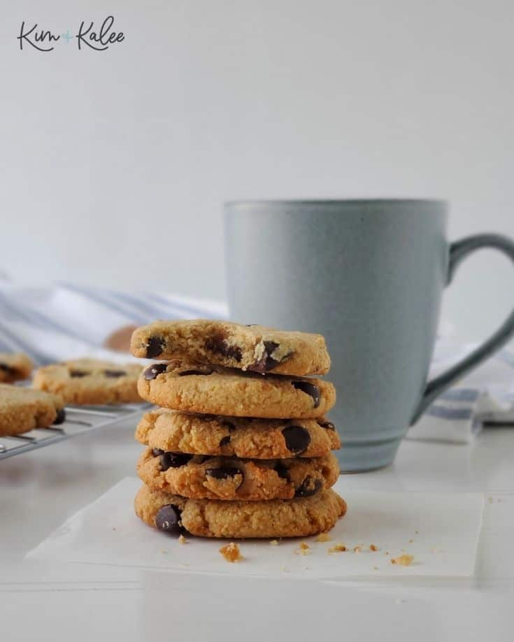 Stacked Chocolate Chip Cookies
