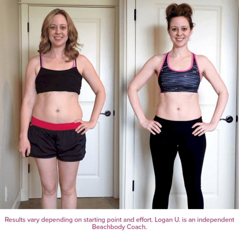 PiYo Before and After photo