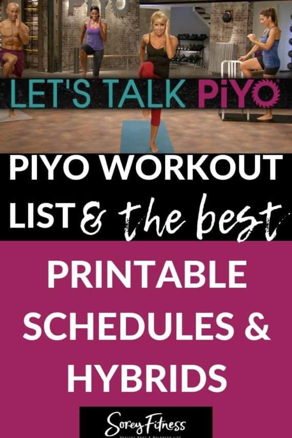 PiYo Calendar - Workout Schedule