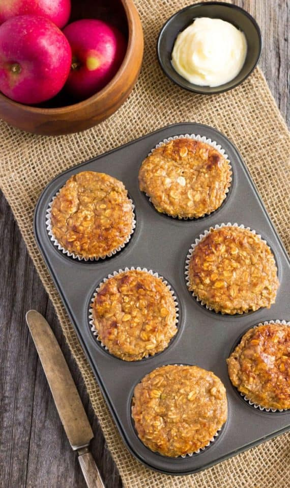 Healthy Breakfast Recipes Apple Protein Muffins