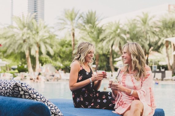 Sipping Drinks at the Aria Pool