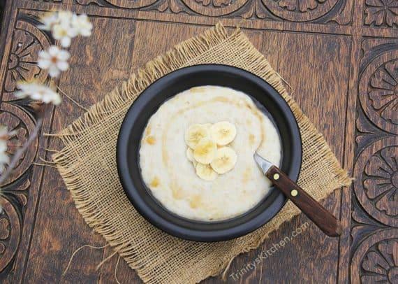 Healthy breakfast ideas coconut porridge