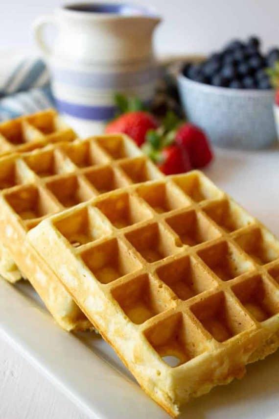 Healthy quinoa waffles for breakfast