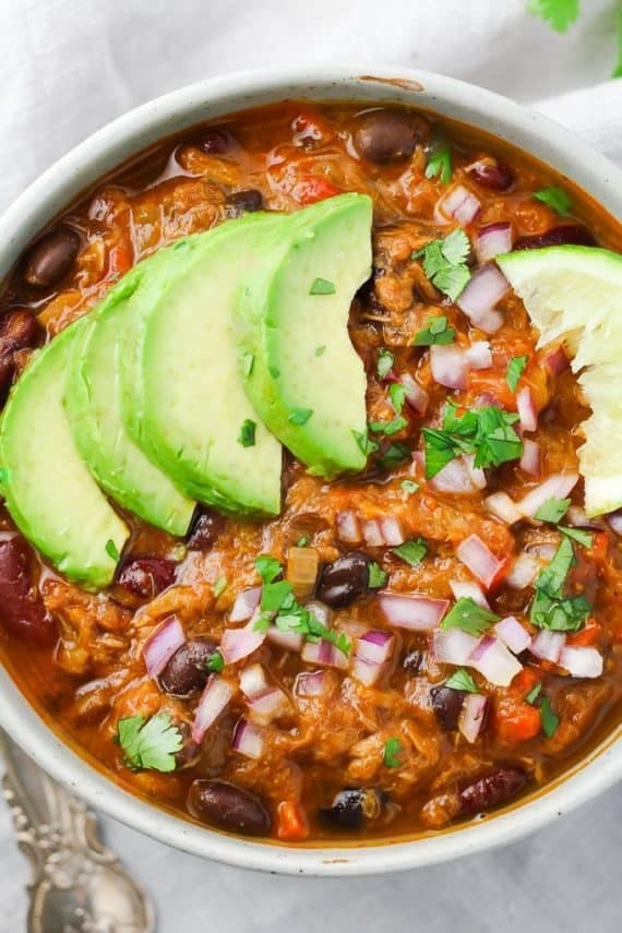 Healthy Dinner recipes: tuna chili
