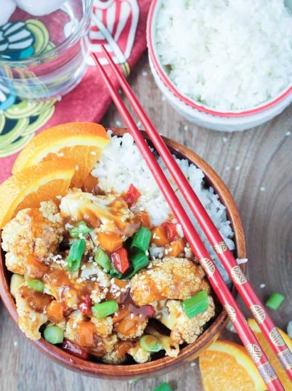 orange cauliflower recipe from veggie inspired