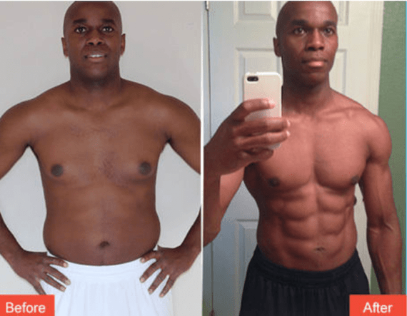 P90X3 Before and After male