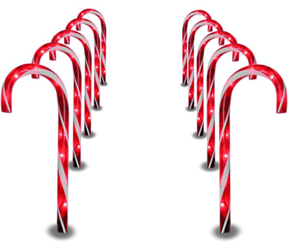 Outdoor Christmas Decorations on Amazon Candy Canes