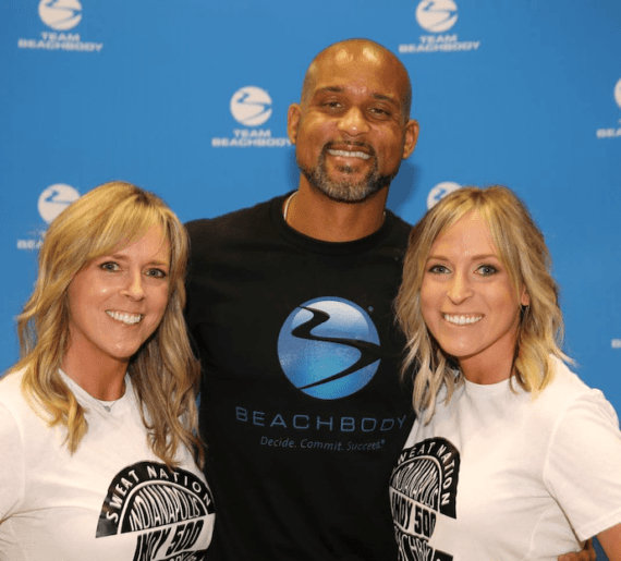 Kim and Kalee with Shaun T