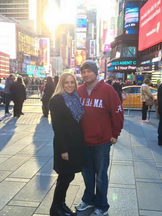 Times Square NYC at Christmas