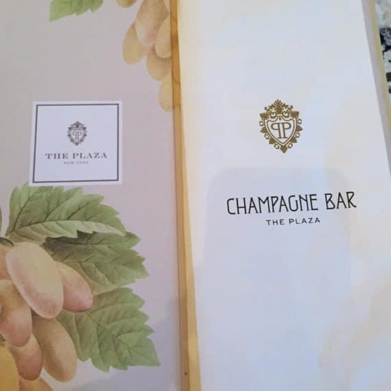 champagne bar at the plaza