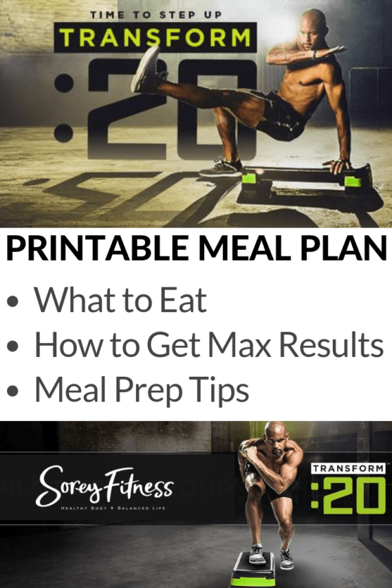 Transform 20 meal plan