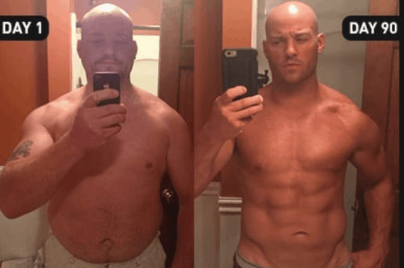 P90X Before and After Photo Man