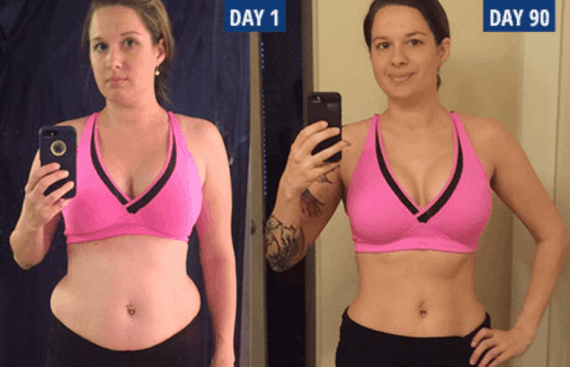 P90X Before and After photo woman