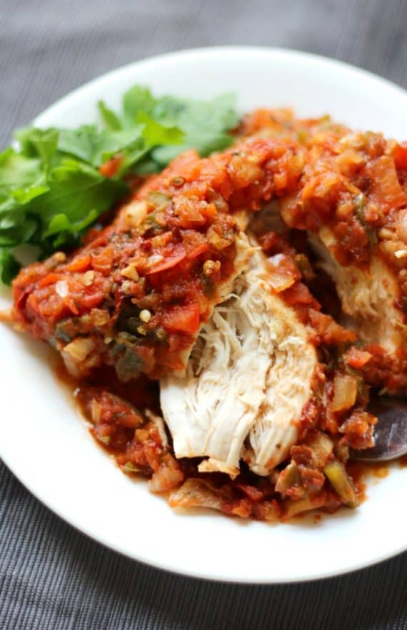 Chicken Sofrito is one of our favorite Paleo healthy crockpot meals