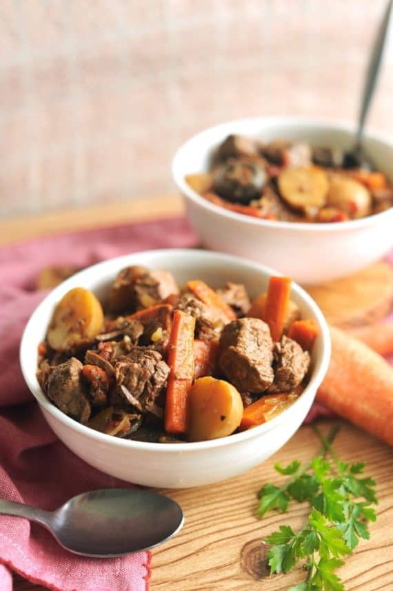 Whole 30 Beef Stew - Healthy Crockpot Meals