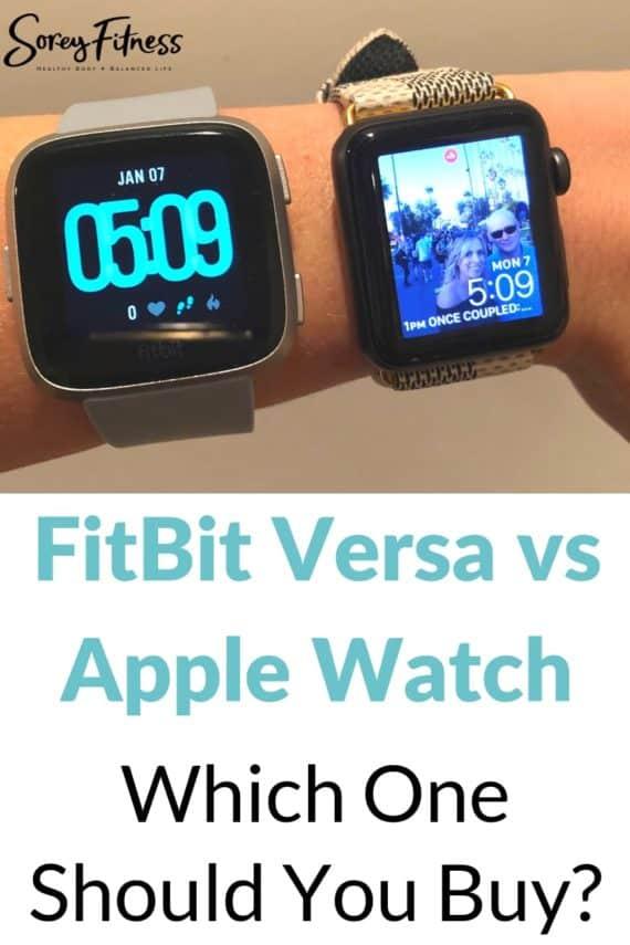 fitbit versa vs apple watch review side by side