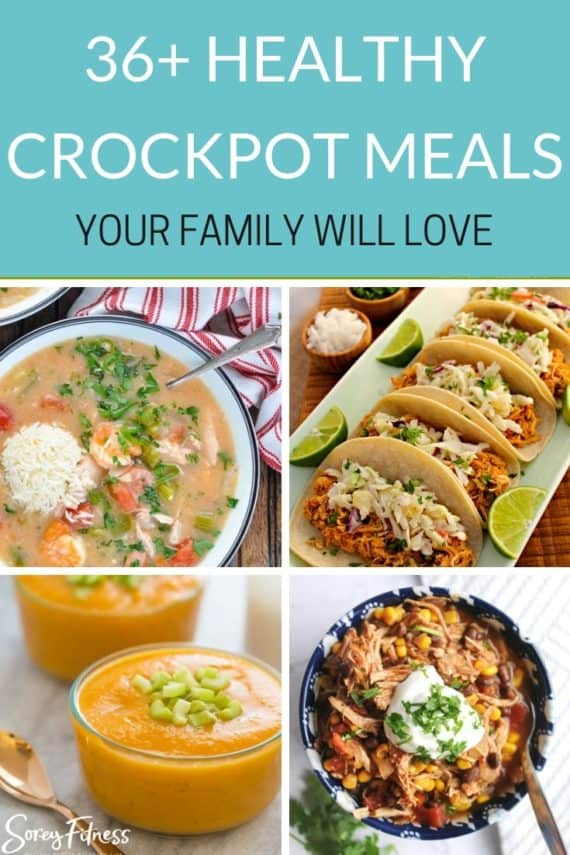 healthy crockpot meals collage
