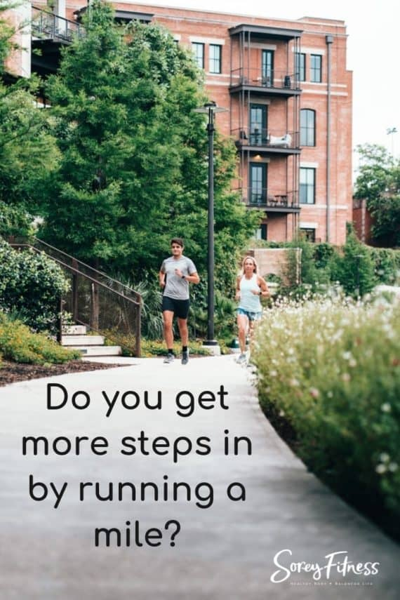 how many steps in a mile running