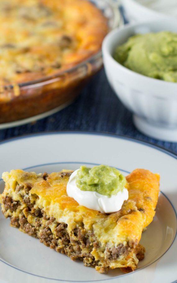 crustless taco pie - low carb recipes