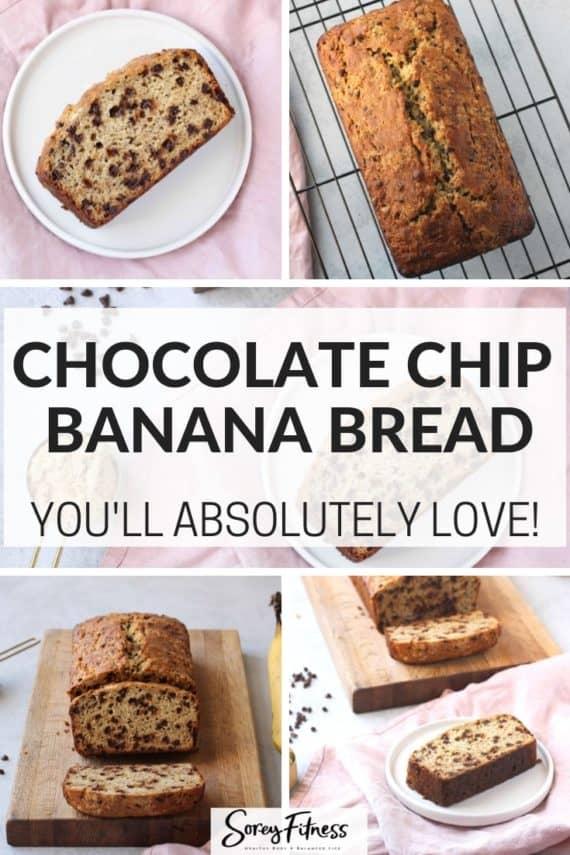 Best Chocolate Chip Banana Bread Recipe Pinterest Pin